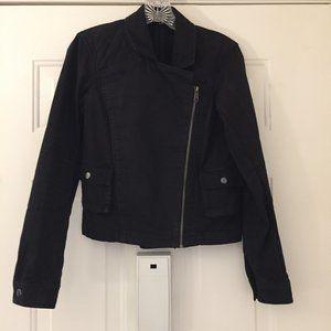 Michael Stars black cotton moto style jacket